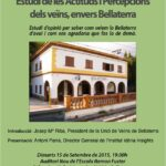 """Presentació de l'Estudi """"Actituds envers Bellaterra i la Unió de Veïns"""""""